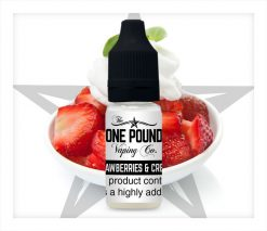 Strawberries-&-Cream_One-Pound-Vape-E-liquid_Product-Image